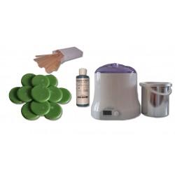 Cid Epil. Kit 800 ml - Cire traditionnelle 1 kg galets Verte