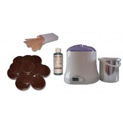 Cid Epil. Kit 800 ml - Cire à épiler Traditionnelle 1 kg Galets Chocolat