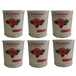 CARE'S ROSE - 6 pots de cire à épiler tiède