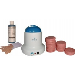 Kit épilation 800 ml - 1 kg cire pelable galets ROSE