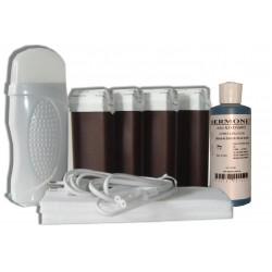 Kit épilation 4 x 100 ml - CHOCOLAT - Cire à épiler
