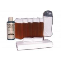 Kit d'épilation - 7x100 ml cire à épiler TOPAZ, bandes, huile