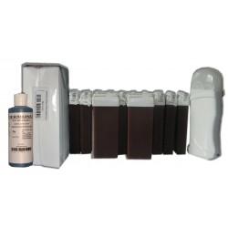 Kit épilation 12 x 100 ml - CHOCOLAT - Cire à épiler