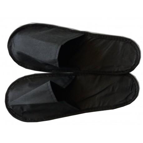 10 paires de mules noires (chaussons) spécial soins cabine