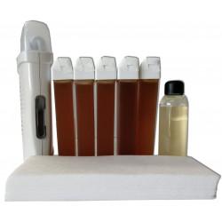 kit epilation Barata, cire 5 recharges de cire 100 ml Miel