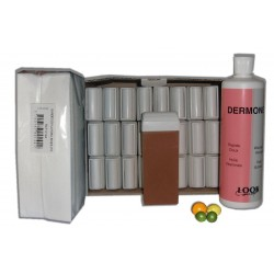 MIEL AGRUMES - Recharge cire roll on - 24x100 ml - Bandes, huile 500 ml